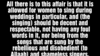 Ruling On Women Dancing And Singing At Weddings | Sheikh Al-Albaani (rahimahullah)