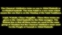 WHO ARE AHLUL HADEETH SALAFI ACCORDING TO TOP SCHOLARS
