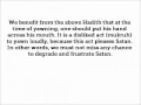HaD-334 -- Covering the mouth when yawning - hadithaday.org