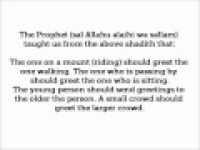 HaD-314 -- Etiquette of offering Greetings - hadithaday.org