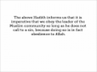 HaD-294 -- Obeying Allah's Messenger and the Muslim Ruler - hadithaday.org