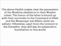 HaD-288 -- Obedience to the Ruler - hadithaday.org