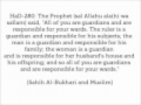 HaD-280 -- Responsibilities of Guardianship - hadithaday.org