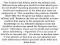 HaD-171 - Refraining from the Doubtful - hadithaday.org