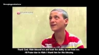 Blind boy speaks to Sheikh Fahad Al Kanderi