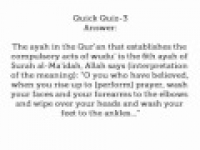 Quick Quiz 3 with Answer and Winner - hadithaday.org