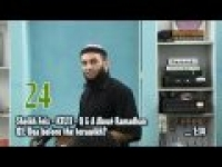 Sheikh Feiz : 24.Q1.Doa before the terawikh? - TIOTPOR Part 2