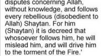 he makes ppl argue - know your enemy shaytaan - 18/19