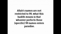 HaD-14: Ticket No.14 - 99 Names of Allah - hadithaday.org