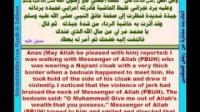 ترجمة ریاض الصالحین عربی إنجلیزی حدیث الأعرابی الذی جبذ بردة الرسول Riyadh Al Saliheen with English